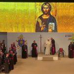 Papa con los sacerdotes y Religiosos en Medellín 090917