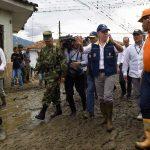 Una inspección al sitio de la avalancha en Corinto (Cauca), hizo el Presidente Santos, quien anunció la entrega de ayudas a los damnificados.