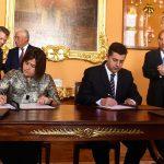 Un Protocolo sobre Cooperación en Formación Turística fue suscrito este lunes por la Ministra de Comercio, Industria y Turismo, María Lorena Gutiérrez, y el Ministro de Economía de Portugal, Manuel Caldeira.Foto: César Carrión - SIG