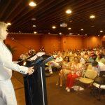La Ministra de Comercio, Industria y Turismo, Cecilia Álvarez-Correa, durante su intervención en el lanzamiento de la Temporada de Cruceros 2014-2015 que tuvo lugar esta tarde en el Centro de Convenciones de Cartagena.