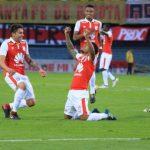 Santa Fe goleo a Jaguares250218