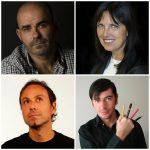 Arriba: Eduardo Sacheri y Claudia Piñeiro-Abajo: Pablo Bernasconi y Chanti