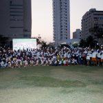 Más de 120 niños de varias regiones del país sacaron la tarjeta blanca por el deporte y la paz180318 foto de familia-2