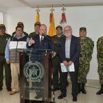 Rueda de prensa Ministro de Defensa reunión de seguridad en Manizales