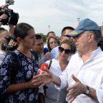 Desde La Virginia, Risaralda, el Presidente Juan Manuel Santos hizo un nuevo llamado para que la campaña electoral se desarrolle con toda responsabilidad y tranquilidad.Foto: Juan David Tena - SIG
