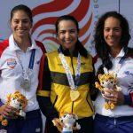 Paola Moreno (Centro), golfista colombiana.@OlimpicoCol