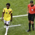 Carlos Sánchez fue expulsado en el debut de Colombia en el Mundial