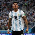 Rojo hizo el Gol del triunfo de Argentina