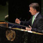 Santos, durante su intervención en la Cumbre sobre el cambio Climático