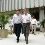 Diálogo del Presidente y el Fiscal General en la nueva sede del ente acusador, en la capital nortesantandereana.