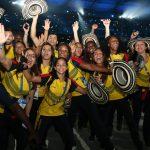 Parte de la delegación colombiana, en el desfile de clausura de los Juegos.