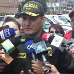 Secretario de Seguridad, Convivencia y Justicia, Jairo García, y el Comandante de la Policía Metropolitana de Bogotá, Mayor General Hoover Penilla