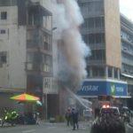 Pánico por explosión en el centro de Cali