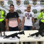 Captura de venezolanos en Valledupar Foto: Policía