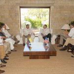 El Presidente Iván Duque y el Secretario de Estado de Estados Unidos, Mike Pompeo, junto con sus respectivas delegaciones, analizan temas de interés común durante el encuentro de trabajo de este miércoles en Cartagena.