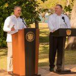 A través del Secretario de Estado de Estados Unidos, Mike Pompeo, el Presidente Duque agradeció a ese país por su apoyo a la agenda de legalidad, emprendimiento y equidad que impulsa el Gobierno de Colombia.