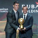 Cristiano,el mejor del mundo según Globe Soccer Awards