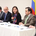 Ministra de Transporte, Ángela María Orozco, anunció el segundo pago por $627.000 millones de pesos por parte de la ANI a los bancos como acreedores y terceros de buena fe, del proyecto Ruta del Sol, sector 2.