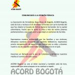 comunicado ACORD 01-19