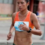 Angie Orjuela, integrante del Equipo Porvenir, finalizó en la casilla doce de la Maratón de Houston