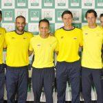 Robert Farah, Juan Sebastián Cabal, Pablo González, Alejandro González, Daniel Galán y Santiago Giraldo. Foto: Fedecoltenis / William Mora.