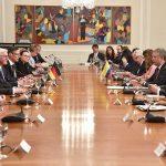 Una reunión ampliada en la que abordaron distintos temas de la relación bilateral sostuvieron el Presidente Duque y su gabinete y el Mandatario de Alemania, Frank-Walter Steinmeier, y la delegación que lo acompañó durante su visita oficial al país.