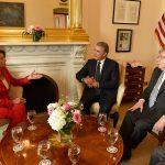 El apoyo a la reincorporación y la decisión de llevar a la justicia a quienes reincidan en la violencia, fue uno de los temas que el Presidente Duque compartió con la Presidenta de la Cámara de Representantes de Estados Unidos, Nancy Pelosi.