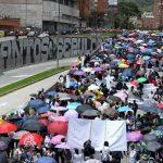 Profesores protestaron en Colombia