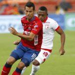 DIM_SANTA FE El delantero Germán Ezequiel Cano anotó al minuto 61, tras cobro de pena máxima.