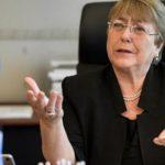 La Alta Comisionada de la ONU para Derechos Humanos Michelle Bachelet